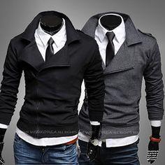 Fashion Men Style Slim Fit Side Zip Sweat Jacket | Sneak Outfitters
