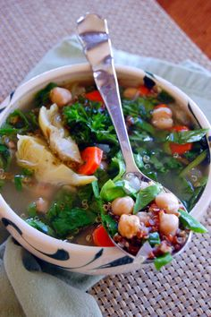 Mediterranean Quinoa Soup | Uproot from Oregon