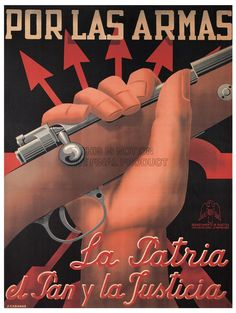 WAR SPANISH CIVIL PROPAGANDA FASCIST NATIONALIST RIFLE SPAIN RETRO POSTER 2868PY in Art, Posters   eBay