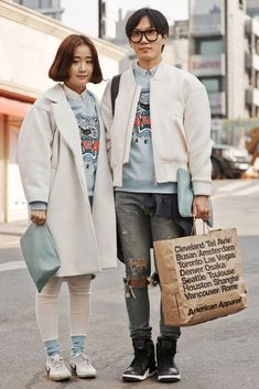 TRENDING: Matching Korean couple's outfits