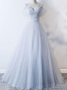 Custom prom dress - Off Shoulder Pale Blue Tulle Aline Long Evening Prom Dresses, Cheap Party Custom Prom Dresses, 18626 – Custom prom dress Pale Blue Dresses, Blue Wedding Dresses, Cheap Prom Dresses, Ball Dresses, Ball Gowns, Evening Dresses, Sexy Dresses, Blue Gown, Dance Dresses