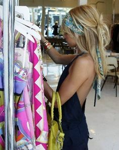 Boho Hair scarf, messy-style...perfect for the beach. so wanna try this!