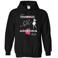 Awesome Tee TENNESSEE GIRL IN ARIZONA WORLD T shirt