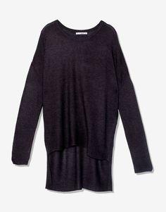 Camisola fina comprimento desigual - Malha - Vestuário - Mulher - PULL&BEAR Portugal