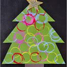 Ornament Stamped Christmas Tree Craft and many other ideas