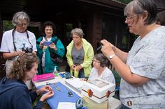 Hummingbird Banding with researchers from the Milwaukee Zoo at Devil's Lake State Park - www.devilslakewisconsin.com