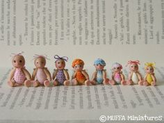 mini dolls.  inspiration, not a tutorial, I want to make these