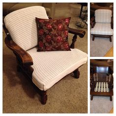 My new chair. About $17 total. Very comfy and steardy! Used old blanket for fabric. Much cheaper.