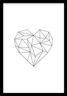 Geometric Heart, poster ryhmässä Julisteet ja printit / Koot / 30x40cm @ Desenio AB (7816)