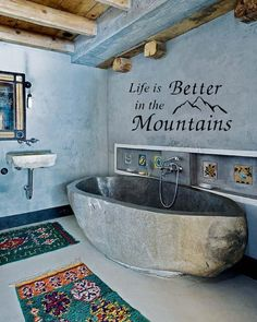 Life is better in the Mountains wall decal cabin decor wall sticker wall art wall quote wall vinyl on Etsy, $9.69