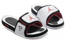 280560b84109bf 2017 Air Jordan Hydro 14 White Black Red Slide Slippers