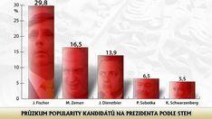 Preference prezidentských kandidátů v roce 2012. Tyto preference se hrubě nepovedly a Fišer nepostoupil do druhého kola voleb Voss Bottle, Water Bottle, Drinks, Beer, Drinking, Beverages, Water Bottles, Drink, Beverage