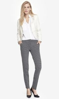 TEXTURED GRID COLUMNIST ANKLE PANT from EXPRESS $50