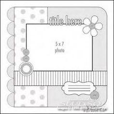 Scrapbook page sketch- 57 photo - Sketch Templates - Ideas of Sketch Templates - Scrapbook page sketch- 57 photo 8x8 Scrapbook Layouts, Scrapbook Templates, Scrapbook Designs, Scrapbook Sketches, Card Sketches, Scrapbook Paper Crafts, Scrapbook Cards, Scrapbooking Layouts Vintage, Card Templates