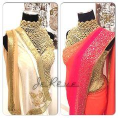 Indulge in some 'Winter Sunshine' ! Gorgeous crochet corset blouse teamed with elegant sarees . #saree #indianwedding #designerblouses #corset #sareecouture #trousseau #indianclothesonline #style #sari #trendy #designer
