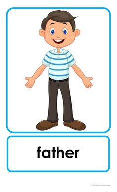 Family Flashcards - English ESL Worksheets for distance learning and physical classrooms English Activities For Kids, Learning English For Kids, English Worksheets For Kids, English Lessons For Kids, Kids English, Kids Learning Activities, Preschool Worksheets, Teaching Kids, Printable Worksheets