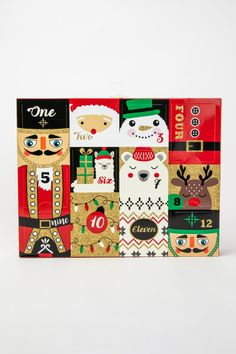 A sock advent calendar! Whether you're gifting this advent calendar to your girlfriends or simply enjoy sporting festive socks around Christmas time, this is the gift for you!  DETAILS • 12 day sock advent calendar • All socks are different festive prints • Ankle and crew height socks included • Fits sock sizes 9-11 • Fits shoe sizes 4-10