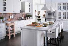 cucina isola ikea bianca