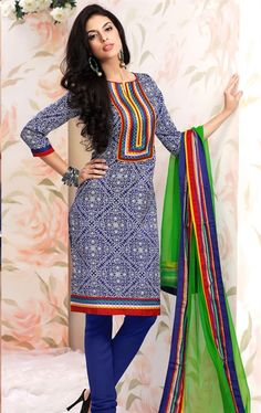 Picture of Amazing Blue Color Indian Salwar Suit Online