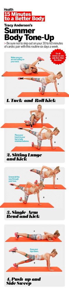 To reveal your best body this summer, try this total-body sculpting series with celebrity fitness trainer Tracy Anderson. These toning exercises are so intense, you'll drop pounds faster for a trimmer, fitter you. Watch the video to learn how to do each move.   Health.com