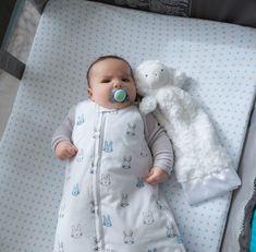 Baby Wearable Blanket / Sleep Bag I Blue Bunnies