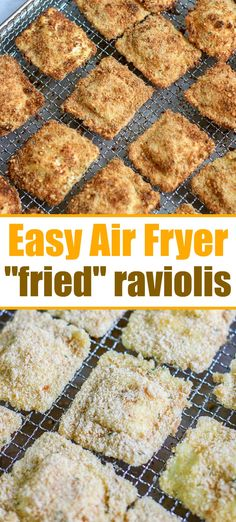 """Air fryer ravioli is easier to make than you think! Using fresh or frozen cheese or meat ravioli you can get that crispy outside with NO oil like this. fryer recipes How to Make Air Fryer """"Fried"""" Ravioli! Air Fryer Recipes Vegetarian, Air Fryer Recipes Breakfast, Air Fryer Oven Recipes, Air Fryer Dinner Recipes, Cooking Recipes, Healthy Recipes, Easy Recipes, Snacks Recipes, Top Recipes"""