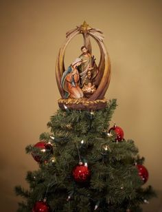 Unique Tree Topper Holy Family Summit Arbor Christmas Tree Themes Christmas Tree Toppers