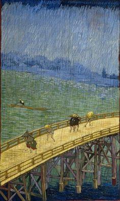 Vincent Van Gogh「The Bridge in the Rain(after Hiroshige)」(1887)