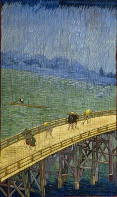 Vincent Van Gogh「The Bridge in the Rain(after Hiroshige)」(1887)