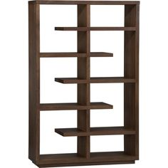 "I saw a nicer one at Brenner's....a little less sharp on the edges, but I love the look, but not for $1600 -- Elevate Walnut 68"" Bookcase in Bookcases, Towers 