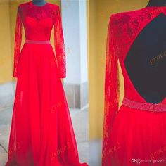 Overskirt Prom Dresses 2017 with Long Sleeves And Sexy Open Back Real Pictures Chiffon Long Formal Event Dress with Beaded Sash Custom Made 2k17 Prom Dresses 2017 Prom Dresses Long Prom Dresses Online with $139.43/Piece on Grace2's Store | DHgate.com