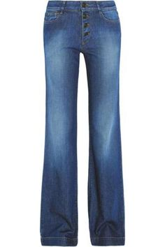High-rise flared jeans #flaredjeans #covetme #pierrebalmain