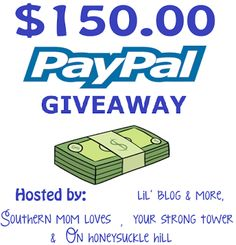 Enter to Win $150 Paypal Cash Giveaway Ends 9/30 - Up Run for Life  ||  Welcome to the $150 Paypal giveaway event!   This event is hosted by: Lil' Blog and More, Southern Mom Loves, Your Strong Tower, and On Honeysuckle Hill.And the event is co-hosted by the following bloggers: Parenting Healthy, Easter Babe's Theory, Aging Like a Fine Wine, Shabby Chic Boho, and Lake Hartwell Agent. This great group of ……