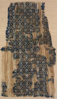 Textile fragment Unknown artist, Italian Textile fragment, 1550-1600 Wool; linen 06.253