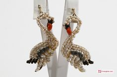 Swan Earrings [Pearls, Coral, Onyx, Crystal] in Gold Plated Silver - Orecchini cigno [Perle, Corallo, Onice, Cristallo] in Argento placcato Oro #jewelery #luxury #trend #fashion #style #italianstyle #lifestyle #gold #store #collection #shop #shopping  #showroom #mode #chic #love #loveit #lovely #style #all_shots #beautiful #pretty #madeinitaly