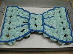 Bow-tie Cupcake Cake