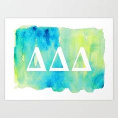 Delta Delta Delta -- ΔΔΔ -- Tri Delt Art Print