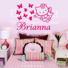 Hello Kitty Personalized Wall Decal (of Course It Says Jessica Though)