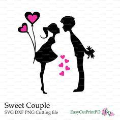 AMORE coppia dolce di San Valentino gli di EasyCutPrintPD su Etsy