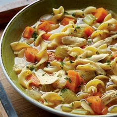 Chicken Noodle Soup @keyingredient #soup #chicken #vegetables