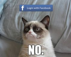 Whenever I'm asked to log-in with Facebook…