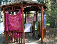 outdoor learning environment (fun little gazebo play area)