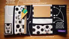 #9 - L'Organiseur / Range-documents pour ton sac à main (Tuto couture inclus)