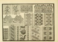 Patterns for needle work, including the various...