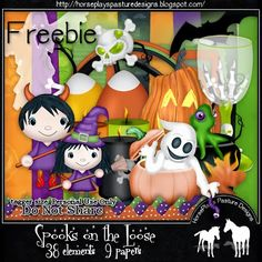 HorsePlay's Pasture Designs: FTU - Spooks on the Loose with Tutorial