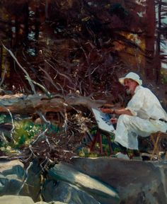 Dwight Blaney Painting. a 1922 oil by John Singer Sargent. Maine. Blaney was an artist and collector who lived in Boston and Wayland and had a summer place on an island near Bar Harbor. This is a detail.