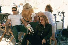 Gillian Anderson & David Duchovny behind the scenes