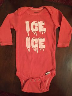 Hand Painted Ice Ice (baby) One-piece