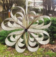 Hanging Paper Ornament- Circle of Hearts