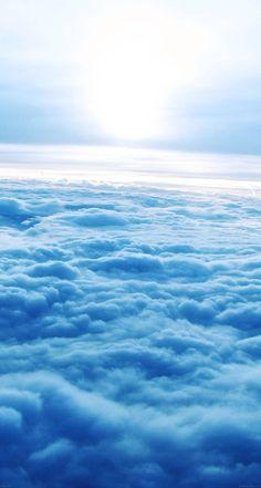 #Blue #clouds - The iPhone iOS7 Retina #Wallpaper I like!